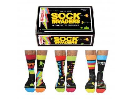 Veselé ponožky Sock Invaders