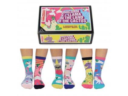 Veselé ponožky Unicorn vs Llama