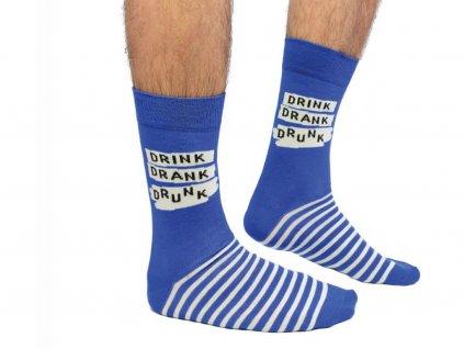 Veselé ponožky Drink. Drank. Drunk veľ.: 39-46