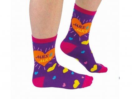 Veselé ponožky Mrs&Mrs veľ.: 37-42