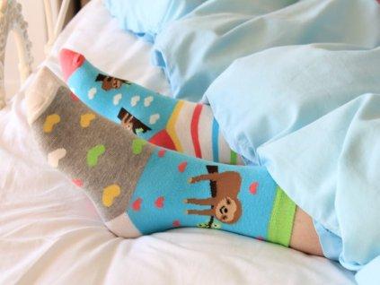 veselé ponožky leňochod 3 ks