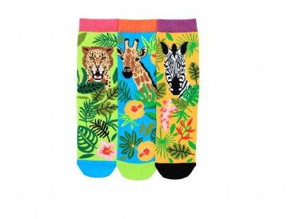 veselé ponožky safari 3 ks
