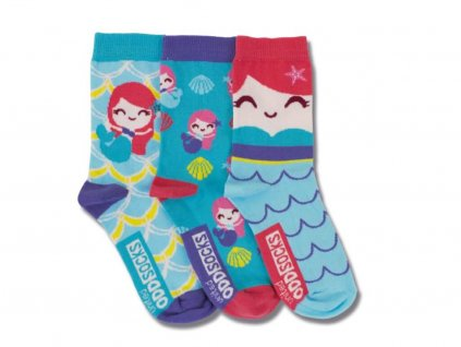 veselé ponožky morská panna 3 ks
