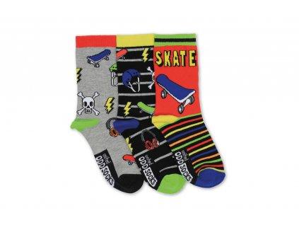 Veselé ponožky Skater 3ks veľ.: 31-39