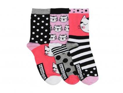 veselé ponožky clara 3 ks