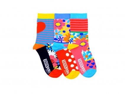 Veselé ponožky Mia 3ks veľ.: 37-42