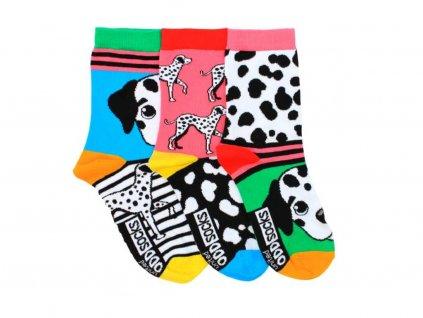 veselé ponožky dalmatínec 3 ks
