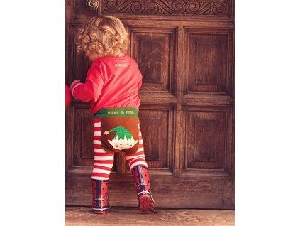 detské legíny vianočný elf