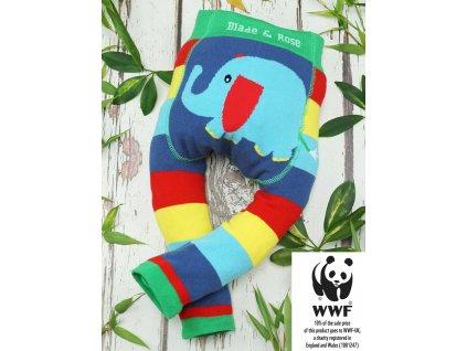 Detské legíny Organic WWF Elephant