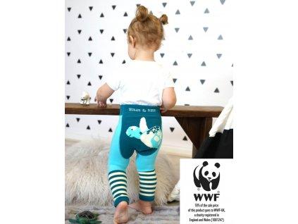 Detské legíny Organic WWF Marine Turtle