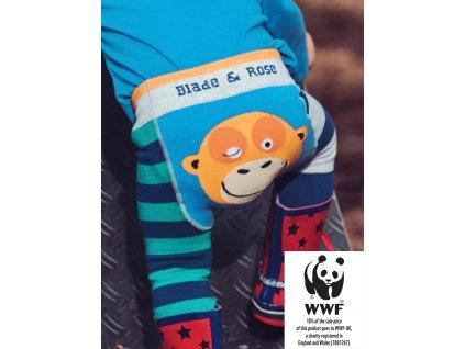 Detské legíny Organic WWF Orangutan