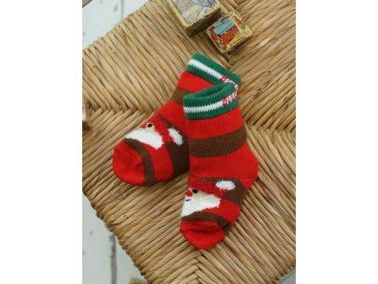 Detské veselé ponožky Christmas Santa