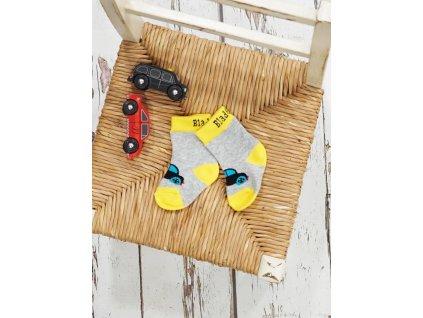 Detské veselé ponožky Vroom Vroom Car