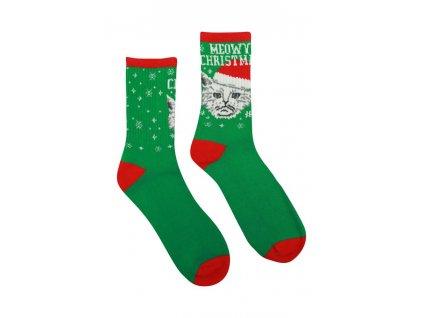 Veselé Termo ponožky Mačka