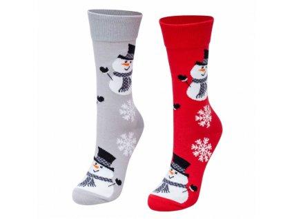 paradoo ponozky vianocni snehuliaci