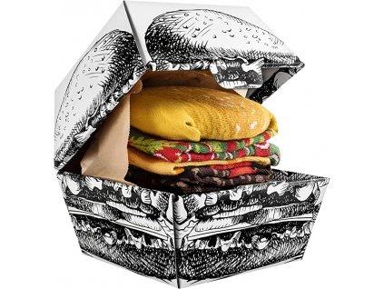 Darčekové balenie ponožiek Burger (2 páry)