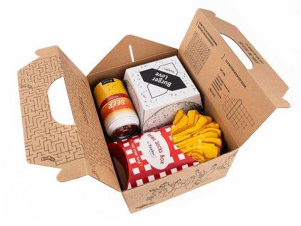 Darčekové balenie ponožiek Meal socks box (5 párov)