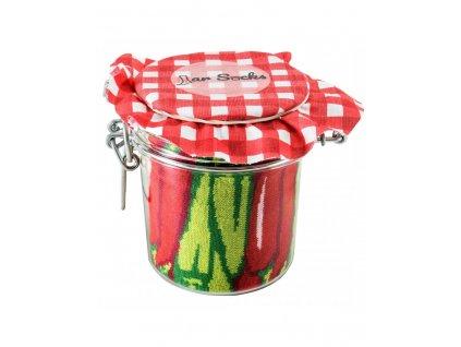 Darčekové balenie ponožiek Zaváraná paprika a hrášok s mrkvou (2 páry)