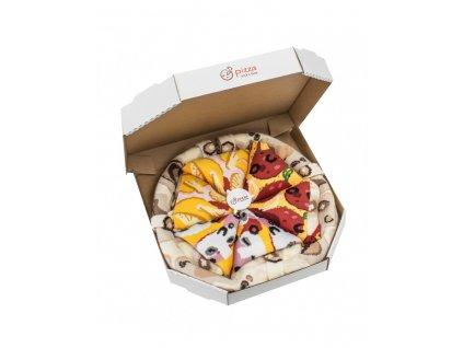 Darčekové balenie ponožiek Pizza Box - MIX 5 (4 páry)