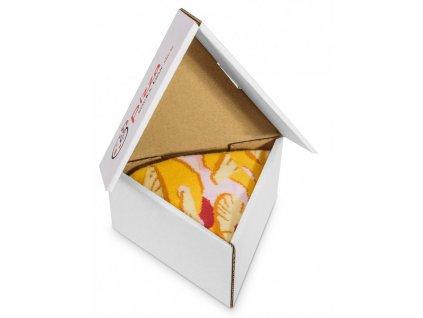 Darčekové balenie ponožiek Pizza Box - Hawaii (1 pár)
