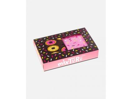 Veselé ponožky Donuty box (2 páry)