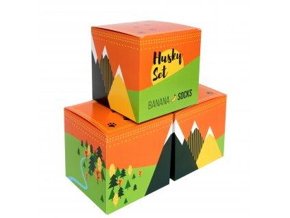 Darčekové balenie ponožiek Husky set (3 páry)