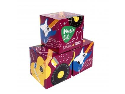 Darčekové balenie ponožiek Music set (3 páry)