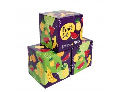Darčekové balenie ponožiek Fruit set (3 páry)