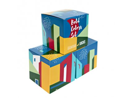 Darčekové balenie ponožiek Bold Colors set (3 páry)