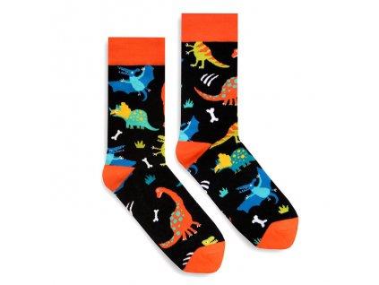 Veselé ponožky Dino