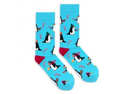 Veselé ponožky X-MAS Penguins