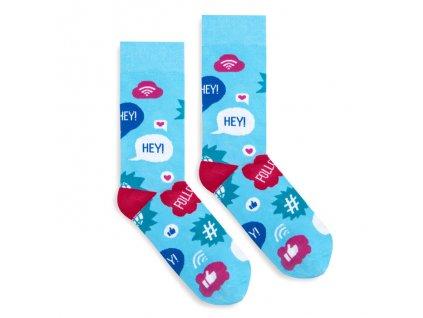 Veselé ponožky Social Media
