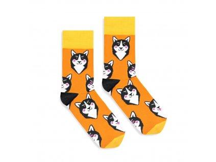 Veselé ponožky Husky