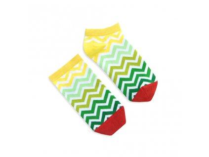 Veselé ponožky Green Stripes