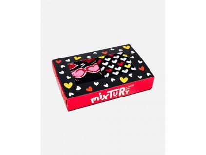 Veselé ponožky - Srdiečkový box (2 páry)