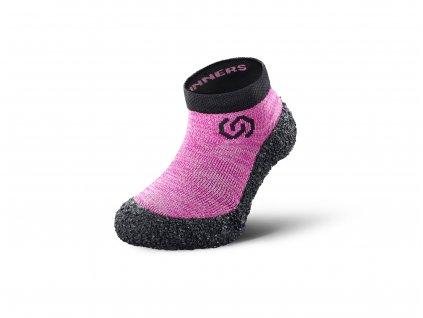 Detské barefoot ponožkotopánky Skinners Candy Pink