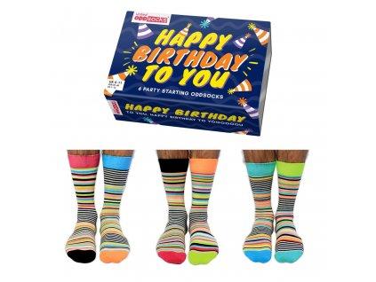 Veselé ponožky Happy Birthday veľ.: 39-46