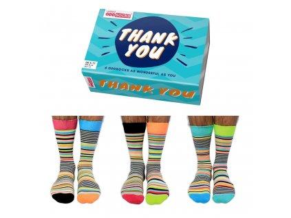 Veselé ponožky Thank You veľ.: 39-46