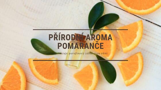 parafínové zábaly obohacené aromatem pomeranče