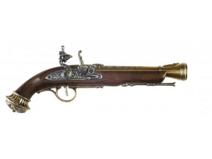 Replika Pistole s křesacím zámkem, 18.stol.