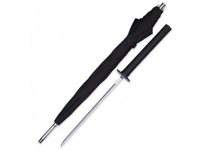 Deštník se samurajským mečem