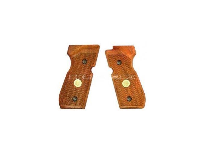 Střenky dřevěné original Beretta M92FS