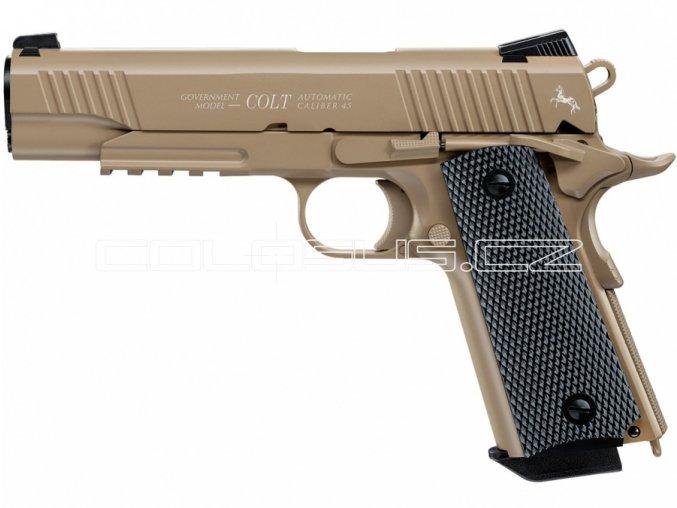 Vzduchová pistole Colt Government M45 CQPB FDE