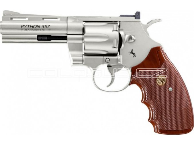 "Vzduchový revolver Colt Python 4"" nikl"