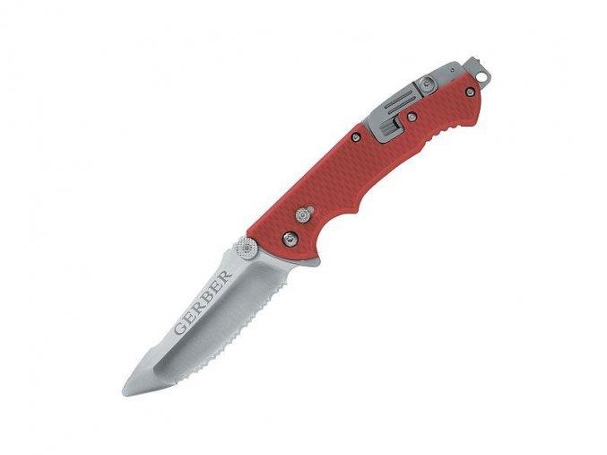Zavírací záchranářský nůž Gerber HINDERER RESCUE SERRATED
