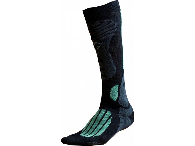 Ponožky BATAC Mission MI01 vel. 42-43 - black/green