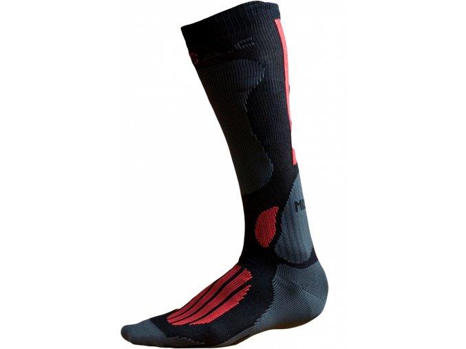 Ponožky BATAC Mission MI01 vel. 42-43 - black/red