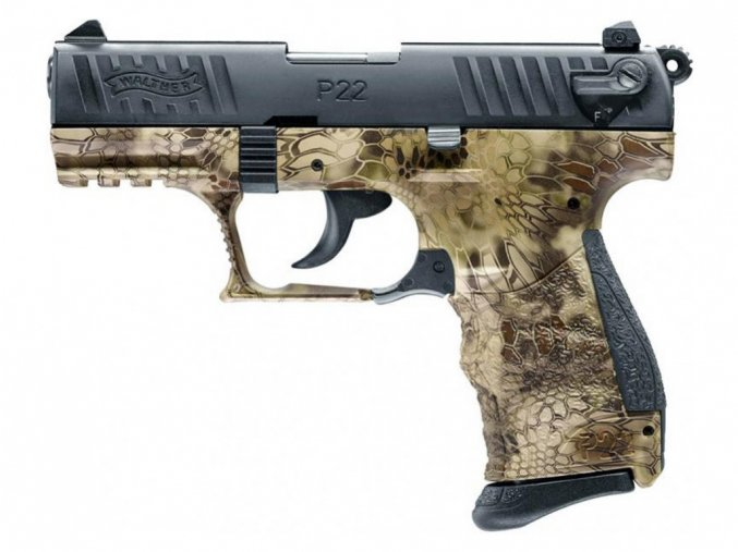 Plynová pistole Walther P22Q Kryptek cal.9mm