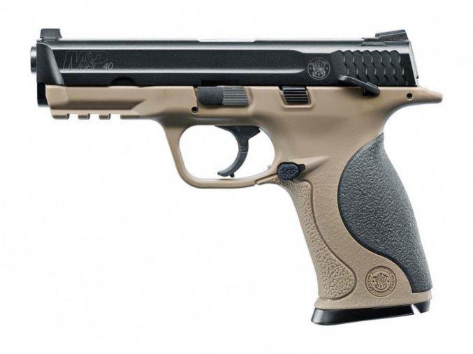 Vzduchová pistole Smith&Wesson MP40 TS FDE