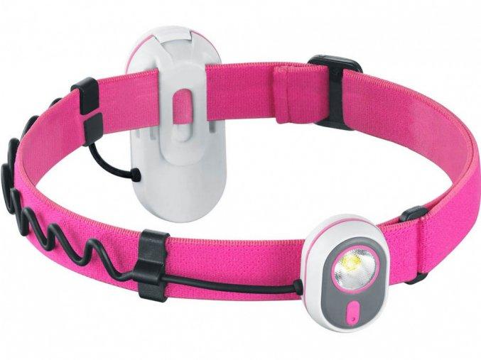 Čelová svítilna Alpina Sport AS01 růžová
